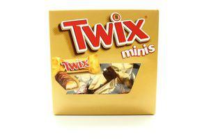 Печиво Twix Minis пісочне з карамеллю в мол.шокол. 225г х8