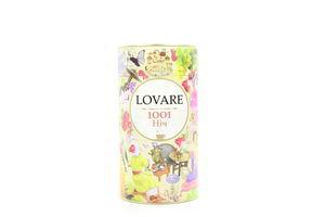 Чай черный и зеленый листовой с кусочками фруктов 1001 Ночь Lovare ж/б 80г