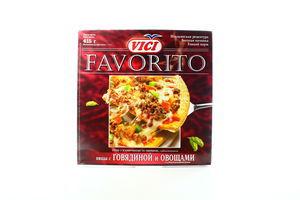 Піца Vici Favorito з яловичиною та овочами 415г х7