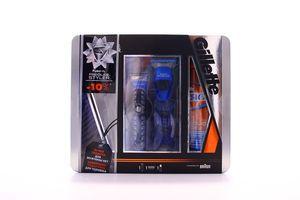 Набір подарунковий Fusion ProGlide Стайлер+1картридж Power+3насадки д/мод бор/усiв+Гель для гоління Зволожуючий 200мл