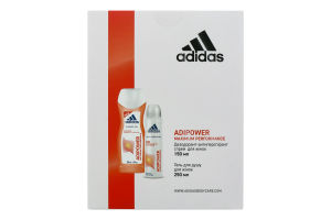 Набір для жінок Дезодорант-антиперспірант Adipower+гель для душу Adipower Adidas 1шт