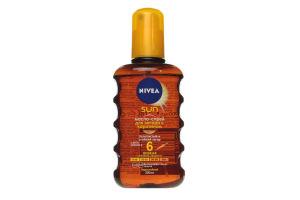 Спрей-масло для загара с каротином водостойкое SPF 6 Sun Nivea 200мл
