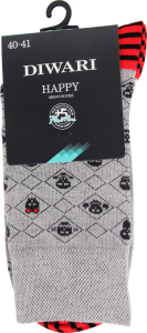 Шкарпетки чоловічі Diwari Happy №17C-151СП 25 059 сірий
