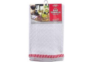 """Royal Crest Cotton Bar Towels 16""""x19"""" - 3 CT"""