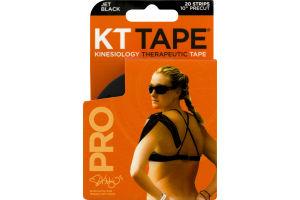 KT Tape Pro Strips Jet Black - 20 CT