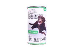 Корм Platinum для собак з кроликом 1230г ж/б х12