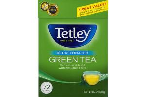Tetley Green Tea Decaffeinated - 72 CT