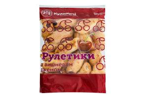 Печиво здобне Рулетики з вишневим джемом Кулиничі м/у 300г