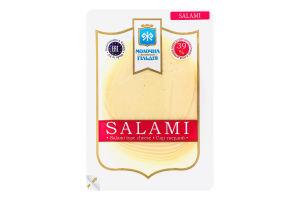 Сир 39% твердий Salami Молочна гільдія лоток 0.15кг