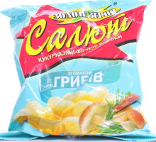 Кукурузные палочки со вкусом грибов Салют м/у 45г