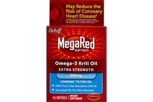 MegaRed Omega-3 Krill Oil Extra Strength Softgels - 45 CT