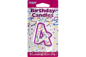 Culpitt Birthday Candles Numeral Candle 4
