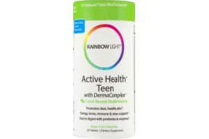 Rainbow Light Active Health Teen with DermaComplex Food-Based Multivitamin - 30 CT