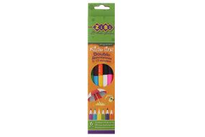 Олівці кольорові двосторонні №ZB.2460 Zibi 1шт