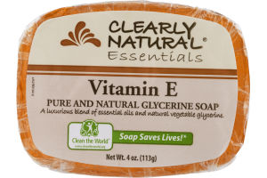 Essentials Clearly Natural Glycerine Soap Vitamin E