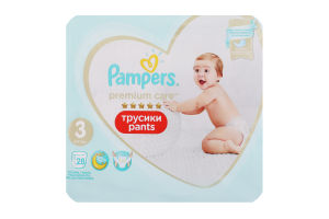 Подгузники трусики pants 6-11кг Premium Care Pampers 28шт