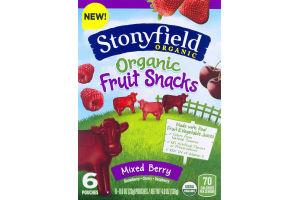 Stonyfield Organic Fruit Snacks Mixed Berry - 6 CT
