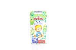 Сок для детей от 4мес Яблоко Спелёнок т/п 0.2л
