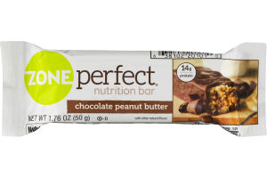 Zone Perfect Nutrition Bar Chocolate Peanut Butter