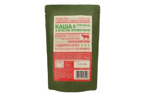 Каша гречана з м'ясом яловичини 350 г