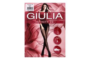 Колготи жіночі Giulia Infinity 20den 2-S nero