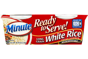 Minute Ready to Serve! White Rice Long Grain - 2 CT