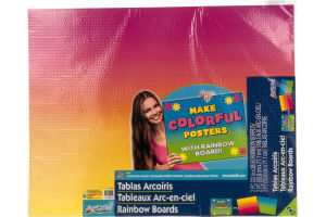 Art Skills Rainbow Boards - 2 CT