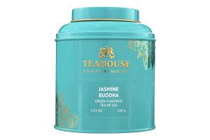 Чай зеленый байховый листовой Жасминовый Будда Teahouse ж/б 100г