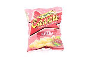Кукурузные палочки со вкусом краба Салют м/у 45г