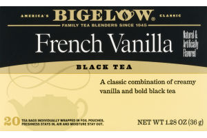 Bigelow Black Tea French Vanilla - 20 CT