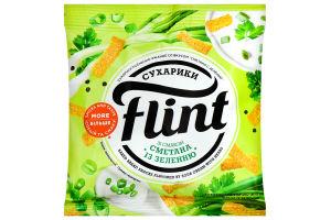 Сухарики Флінт 35гр сметана-зелень (10)