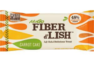 NuGo Fiber d'Lish Soft Baked Delicious Treat Carrot Cake Bar