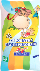 Сироватка 0% пастеризована Молочна веселка м/у 1000г