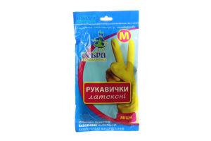 Перчатки для уборки латексные крепкие М Добра господарочка 1пара