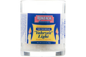 Rokeach Yahrzeit Light Memorial