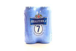 Пиво 5,4% 4* 0,5л экспортное светлое ж/б Акция Балтика №7