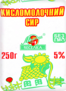 Сир кисломолочний 5% Молочна веселка м/у 250г
