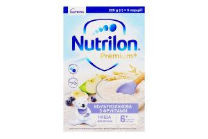 Каша молочна для дітей від 6міс Мультизлакова з фруктами Premium+ Nutrilon к/у 225г