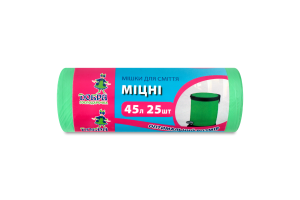 Мешки для мусора крепкие зеленые 45л Добра господарочка 25шт