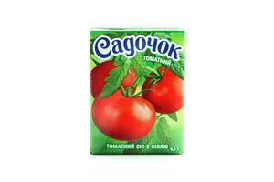 Сок томатный с солью Садочок т/п 0.2л