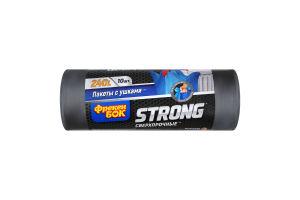 Пакети для сміття з вушками 90х120см 240л Strong Фрекен Бок 10шт