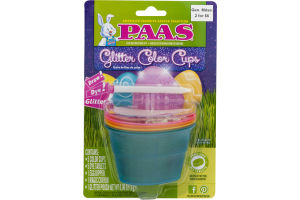 PAAS Egg Decorating Kit Glitter Color Cups