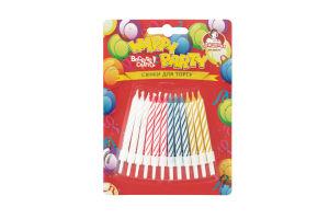 Свічки для торта Happy Party Помічниця 24шт
