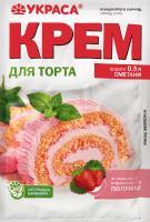 Крем зі смаком та порошком ягід полуниці Для торта Украса м/у 70г