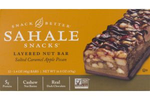 Sahale Snacks Layered Nut Bar Salted Caramel Apple Pecan - 12 CT