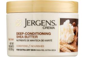 Jergens Crema Body Cream Deep-Conditioning Shea Butter