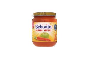 Пюре для детей от 4мес Морковь и яблоко Bebivita с/б 125г