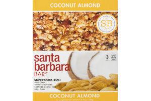 Santa Barbara Bar Coconut Almond - 12 CT