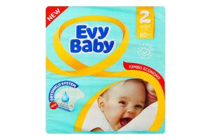 Подгузники дитячі 3-6кг Mini Jumbo Economy Evy Baby 80шт