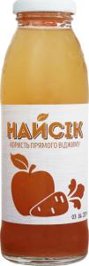 Сок яблочно-морковный неосветленный Найсік с/бут 0.3л